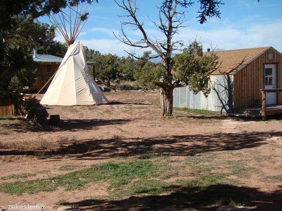La Sal, UT: TePee and Rustic Cabin