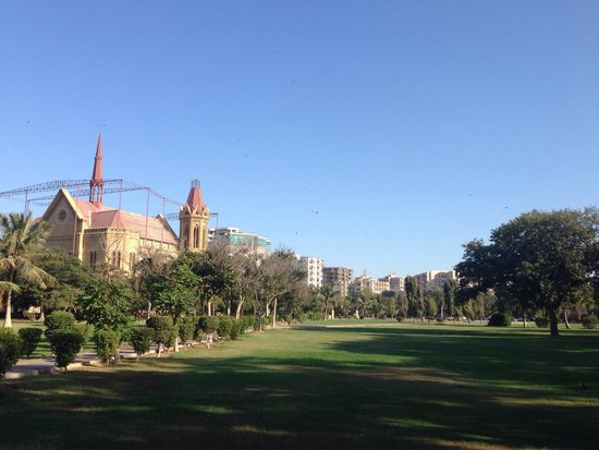 Frere Hall near to the Marriott Hotel , Karachi .