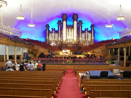 Mormon Temple In Salt Lake City Interior
