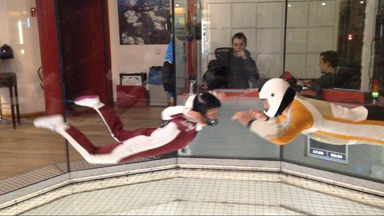 Indoor Skydiving: Me and my coach