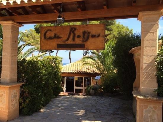 Cala Rotja : restarant entrance