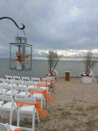 Rockport Beach: Perfectly clean for beach wedding setup!