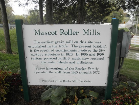 Mascot Roller Mills: sign out front