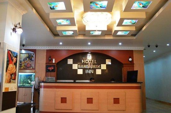 Reception of Hotel Barbareek Inn, Shillong