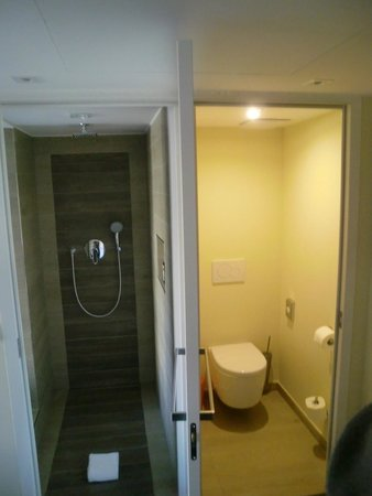Hotel Herzog: Dusche und WC mit einer gemeinsamen Tür