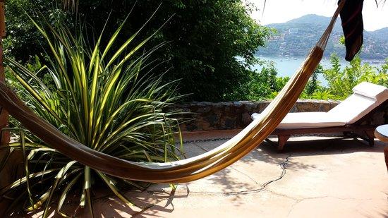 Casa Cuitlateca: Patio/balcony of Guerrero room