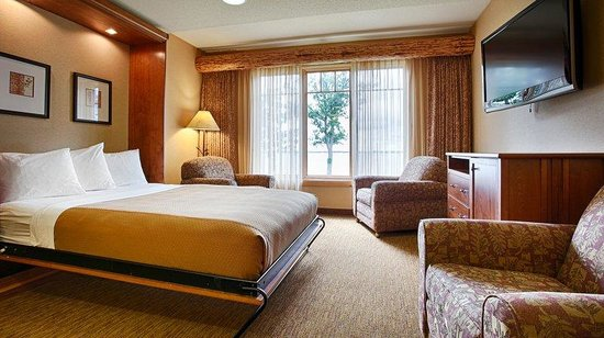 BEST WESTERN PREMIER The Lodge on Lake Detroit: queen bed murhpy 2 - NEW
