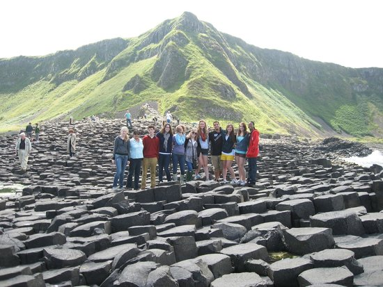 Sheep Island View Hostel and Conference Center: at Giants Causeway with my students in 2009