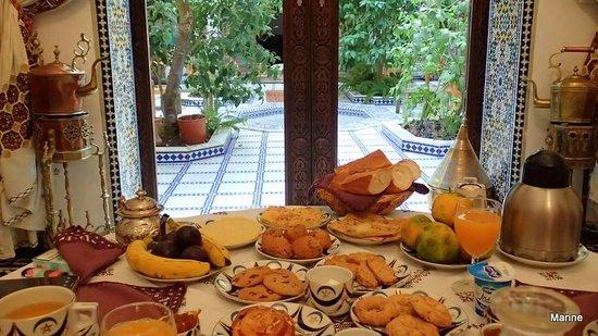 Riad Souafine : Petit déjeuner miam