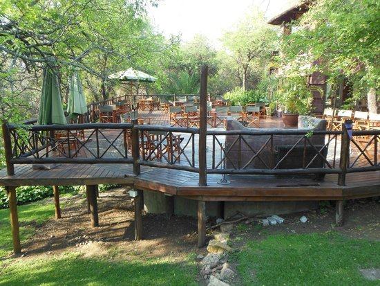 Grand Kruger Lodge: Terrace