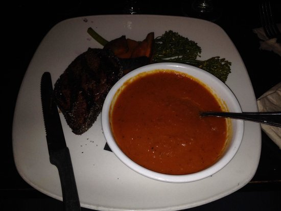 The Wood Restaurant and Lounge: As I was expecting a soup but not purée or mashed tomatoes.