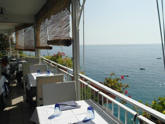 Vesparound in Italy: Positano lunch