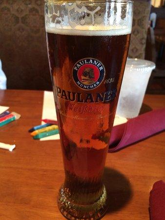 Siegi's Sausage Factory: Excellent Paulaner Oktoberfest beer at Siegi's