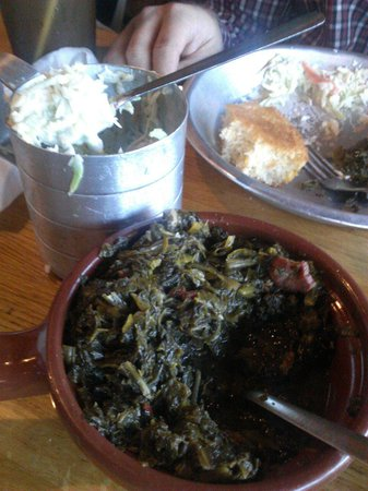 Top O The River : Pot o greens and coleslaw