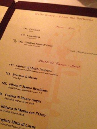 L'Opera Italian Restaurant & Bar (at Inya Lake): Menu
