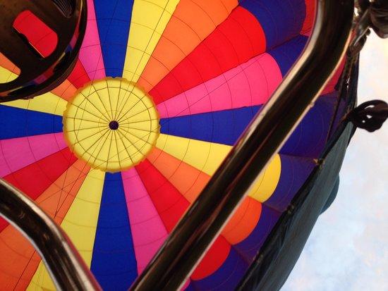 Boar's Head Ballooning - Private Flights: Great juxtoposition!