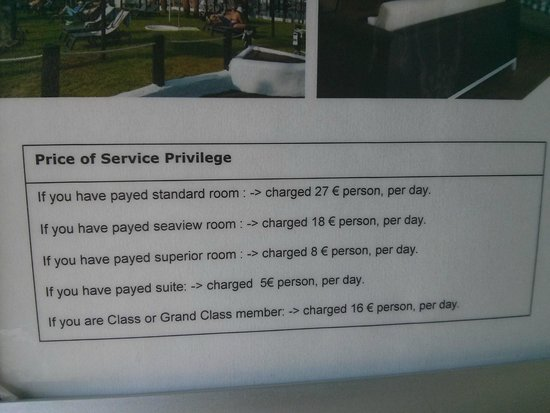 Upgrade Prices For A Privilege Room Picture Of H10
