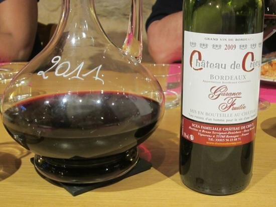 Chateau de Crecy : The chateau's own wine