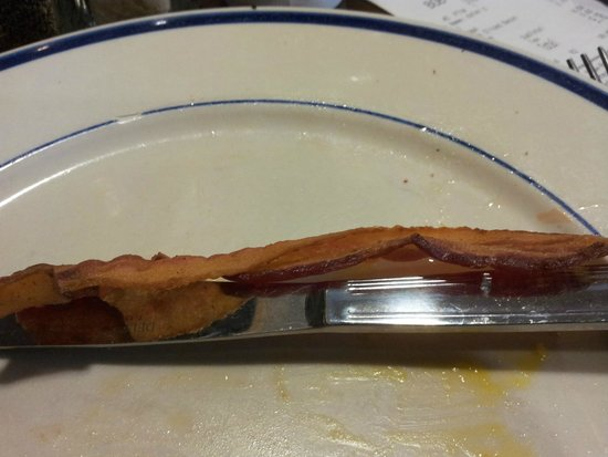 Bob Evans: THICK CUT BACON.  HA HA!