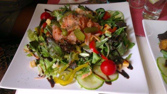 Il-Baxa Cafe Bar: specially made smoked salmon salad