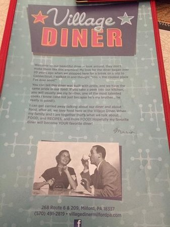 Village Diner : looking like the 50s