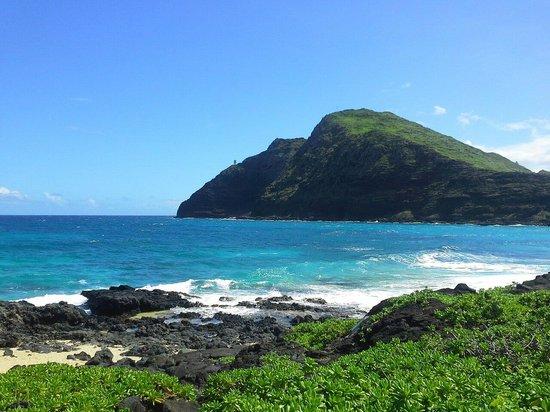 Makapu'u Beach: Lighthouse in the distance