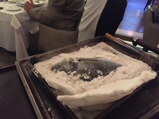 Angel Blue : Salt encrusted fish