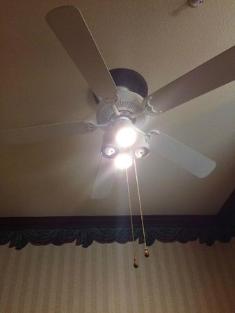 Clarion Suites Downtown: There were several lightbulbs that were out.