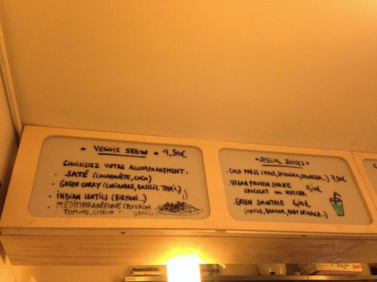 menu #1 - picture of bob's kitchen, paris - tripadvisor