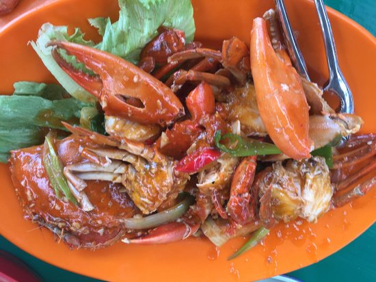 Salut Seafood : Sweet sour mud crabs!