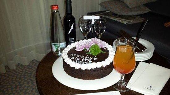 Isrotel Lagoona: עוגת יום הולדת אישית .זה כל כך משפחתי וכייף הפתעה כזאת בחדר .התרגשתי מאוד