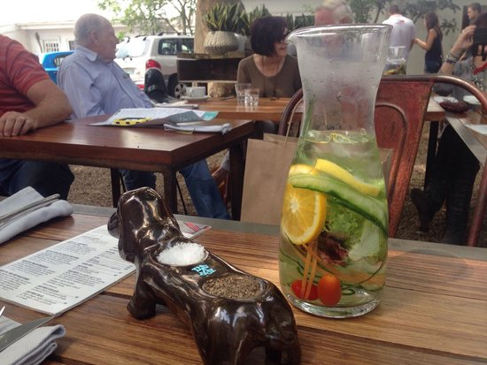 Freedom Cafe : Really great food, lovely outdoor ambiance and fantastic water.