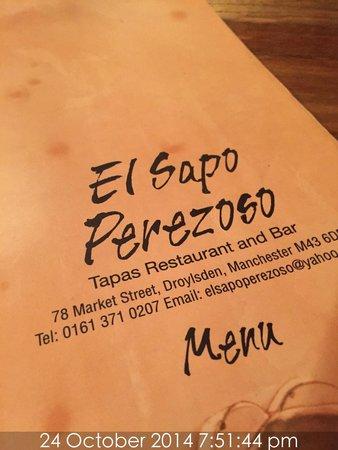 El Sapo Perezoso: Quality food