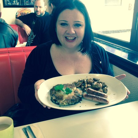 Super Sausage Cafe : Birthday hangover cure :-)