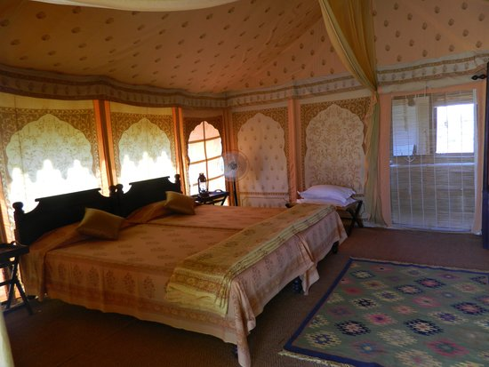 Manvar Desert C& u0026 Resort Deluxe tent - interior & Not your average tent! - Picture of Manvar Desert Camp u0026 Resort ...