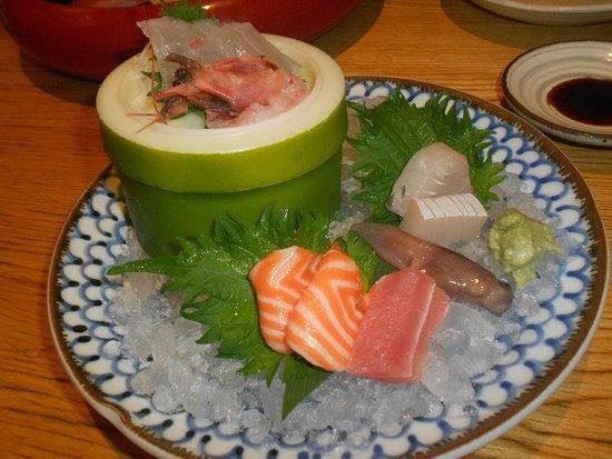 Ganko Sanjo Honten: Sashimi misto (dopo l'assaggio!)