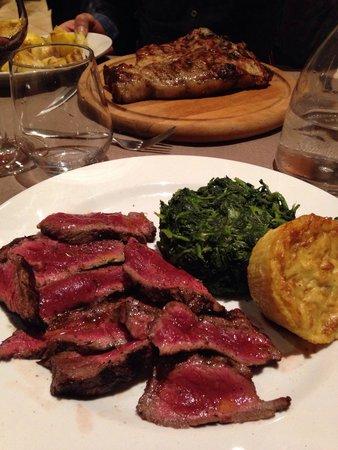 Da Roberto Al Frantoio Della Belluccia : Tagliata e bistecca