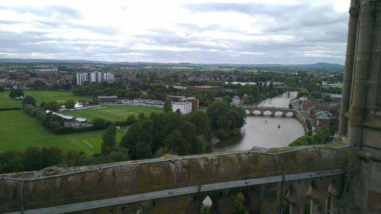 Premier Inn Worcester City Centre Hotel View Of From Cathedral
