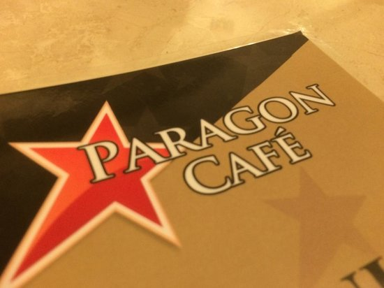Paragon Cafe: Menu