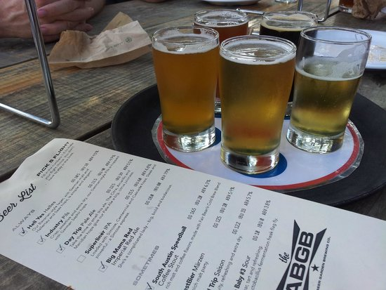 The ABGB: you can order a variety of beers in small servings