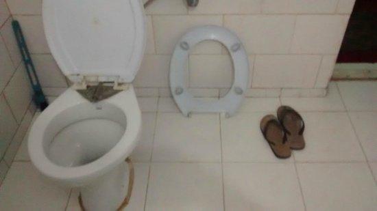 Poshwan Hotel: Bathrooms with broken fittings