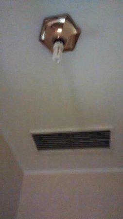 Hotel Royal: bare lightbulb in bedroom