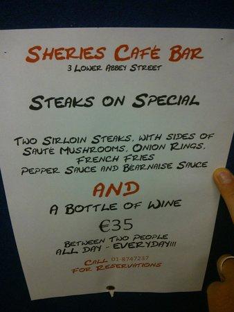 Sheries Cafe Bar: Good deal