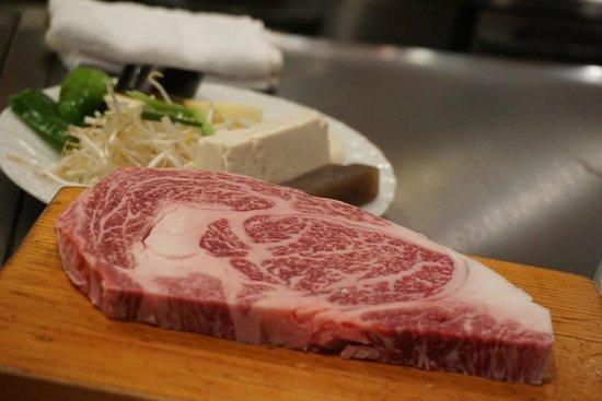 Kobe Beef Steak Aburiniku Kobo Wakkoqu Kitanozaka Main Store: Kobe beef before cooked