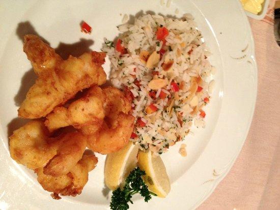 Restaurant Cuisine Française: Fried King Prawns with almond rice