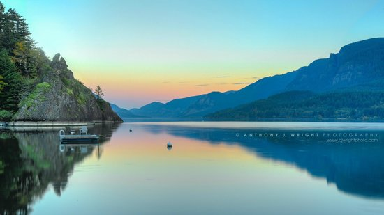 Skamania Coves Resort: Sunset