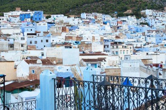 Riad Baraka: Vista do terraço