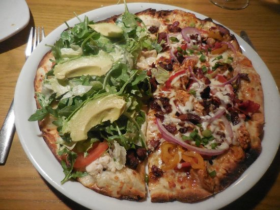 california pizza kitchen split blt and jamaican jerk chicken thin crusted pizza - California Pizza Kitchen Houston