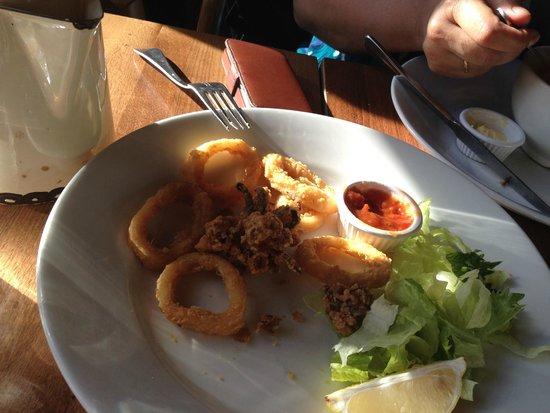 The Fox and Raven: 7 calamari rings for £5.75 !!