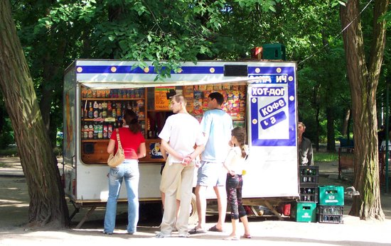 Typical snack stall in the park